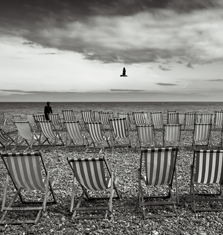 Deckchairs, Devon, 2013